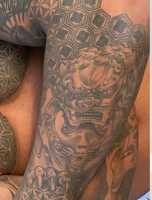 Dale left arm dragon tattoo