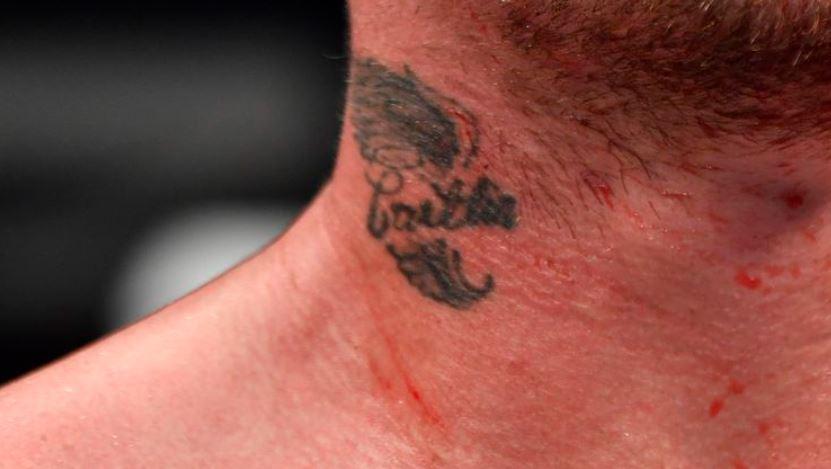 Darren neck tattoo