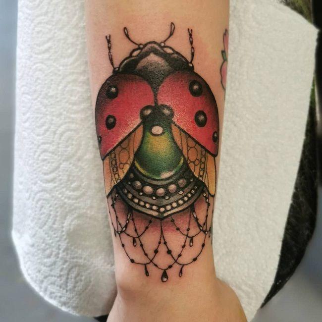 Designer Ladybird Tattoo