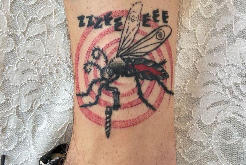 Dotwork Mosquito Tattoo