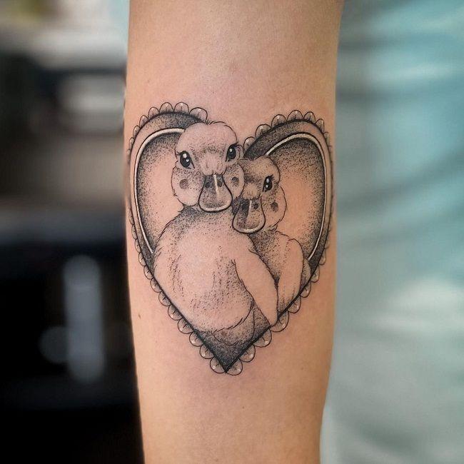 Duck Couple Tattoo