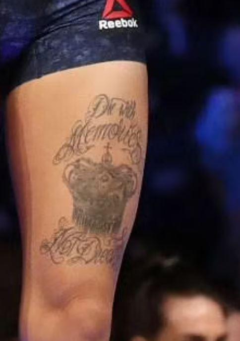 Germaine thigh tattoo