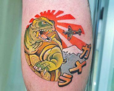 Godzilla King Tattoo