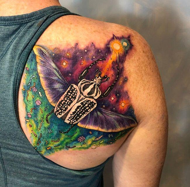 Goliath Beetle Tattoo