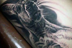 'Gray and Black Kangaroo' Tattoo