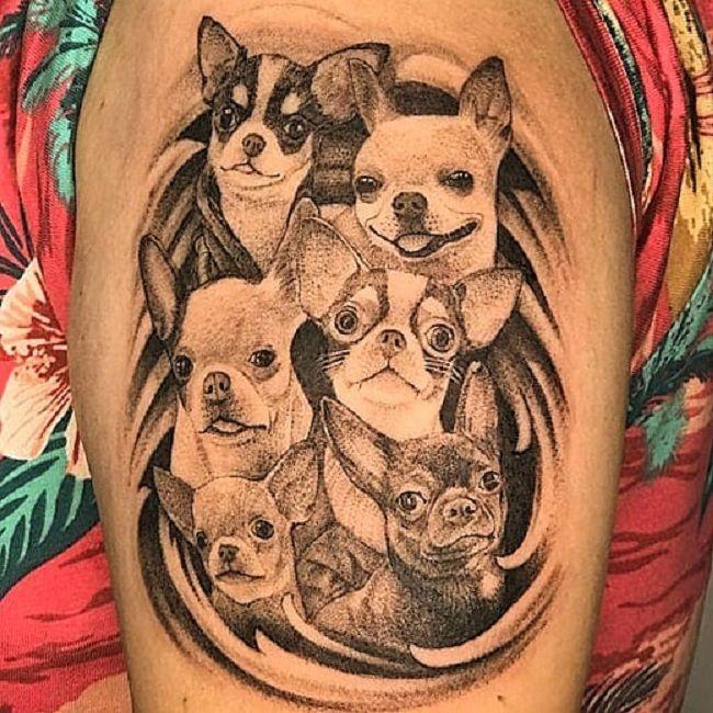 'Group of Chihuahua' Tattoo