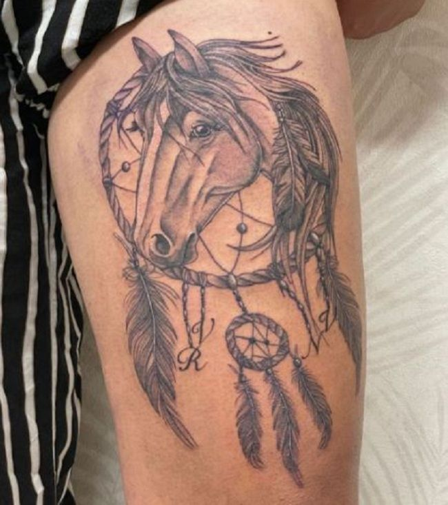 'Horse with Dreamcatcher' Tattoo