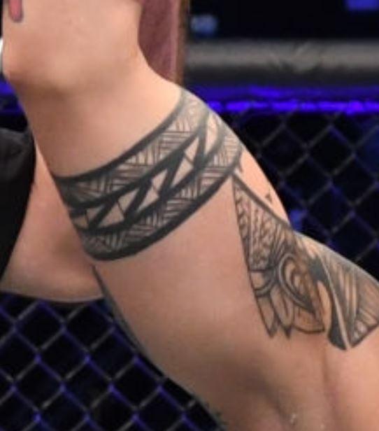Jessica tribal band tattoo