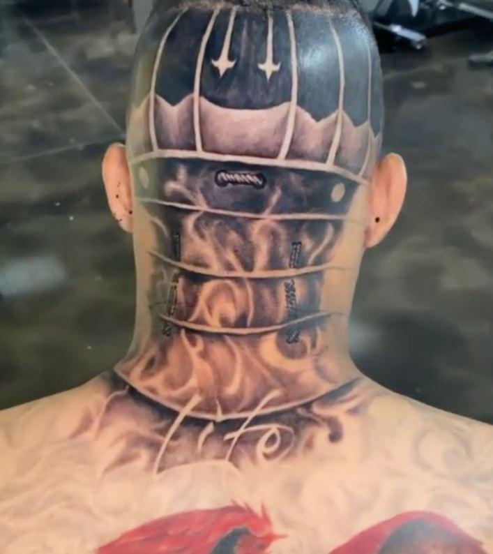 Kevin head tattoo