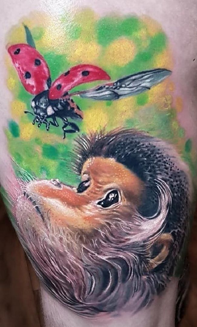 'Ladybird with Monkey' Tattoo