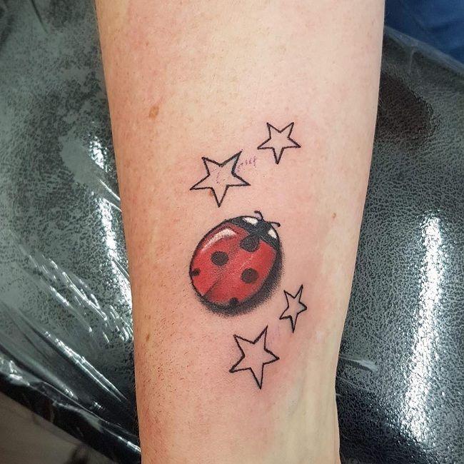 'Ladybird with Stars' Tattoo