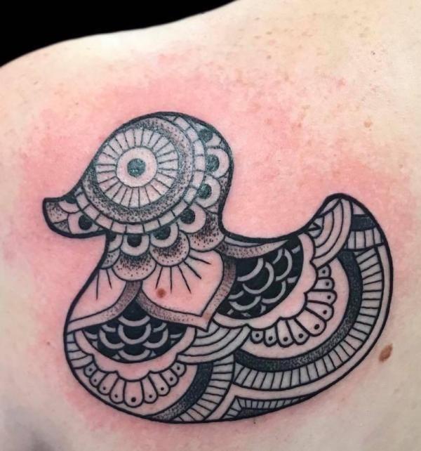 Mandala Duck Tattoo
