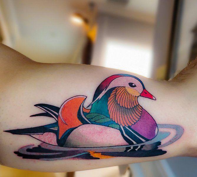 Mandarin Duck Tattoo