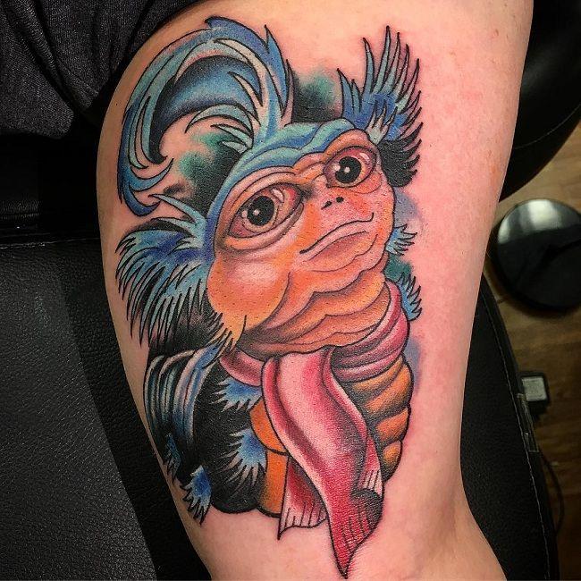 Movie-Character Caterpillar Tattoo