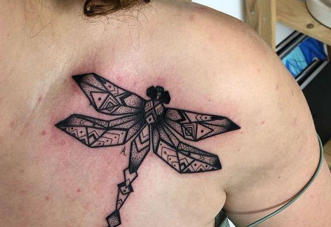 Origami Dragonfly Tattoo