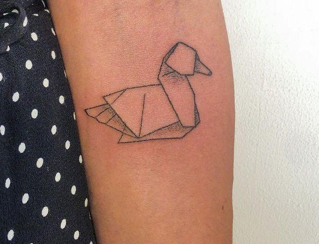 Origami Duck Tattoo