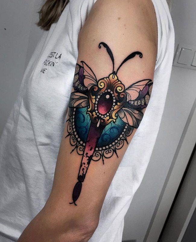 Ornamental Dragonfly Tattoo