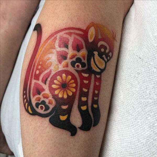 Ornamental Monkey Tattoo