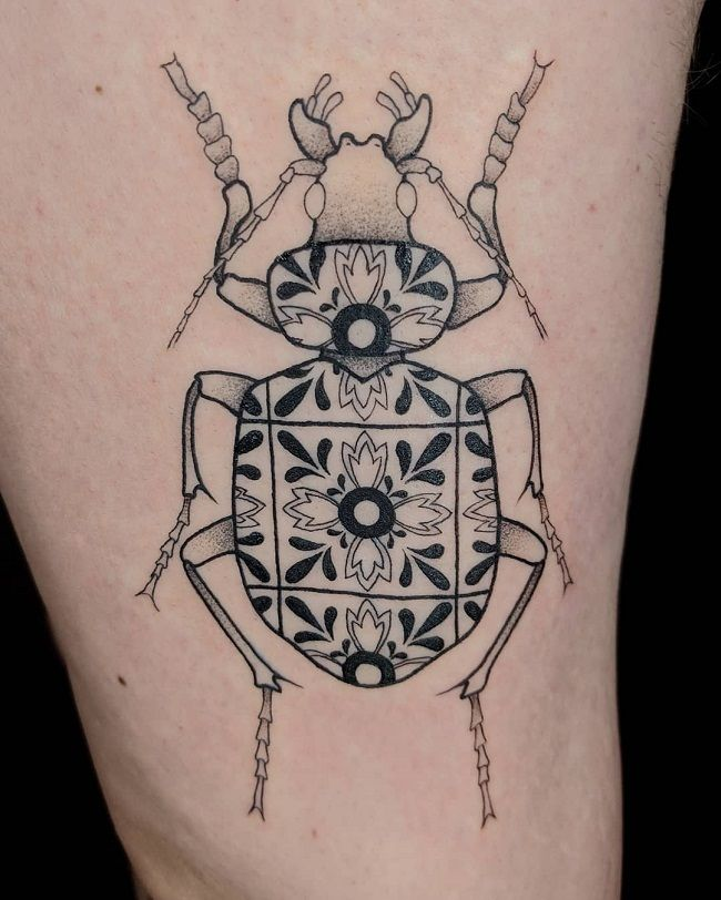 Pattern Style Beetle Tattoo
