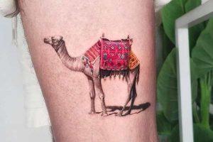 Realistic Camel Tattoo