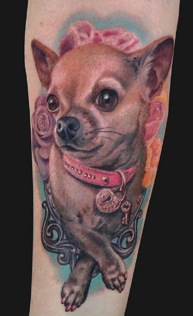 Realistic Chihuahua Tattoo