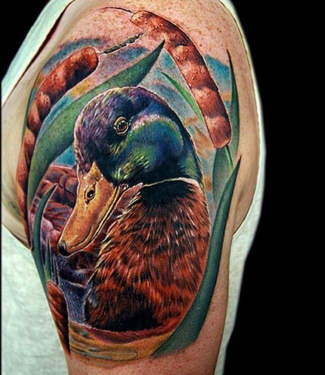 Realistic Duck Tattoo
