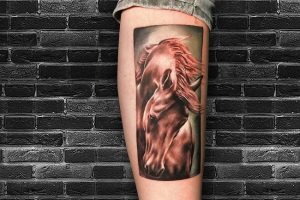 Realistic Horse Tattoo