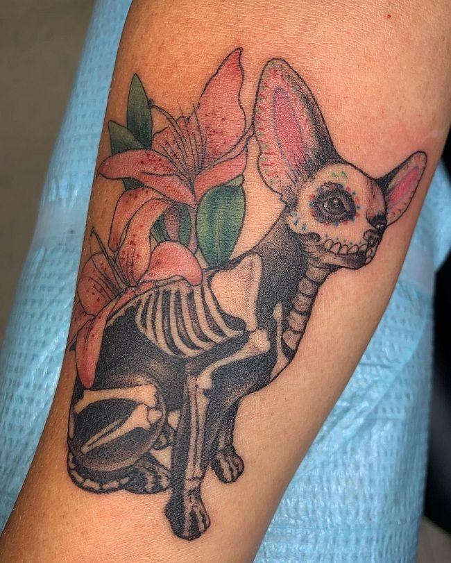'Skeleton of Chihuahua' Tattoo