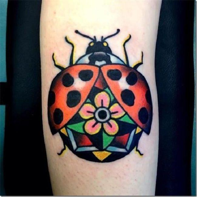 Traditional Ladybird Tattoo