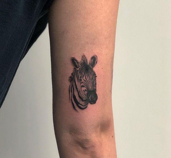 Zebra Face Tattoo