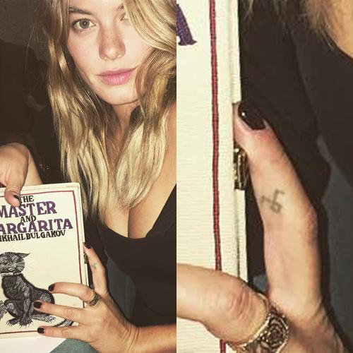 celebrities with rune tattoo