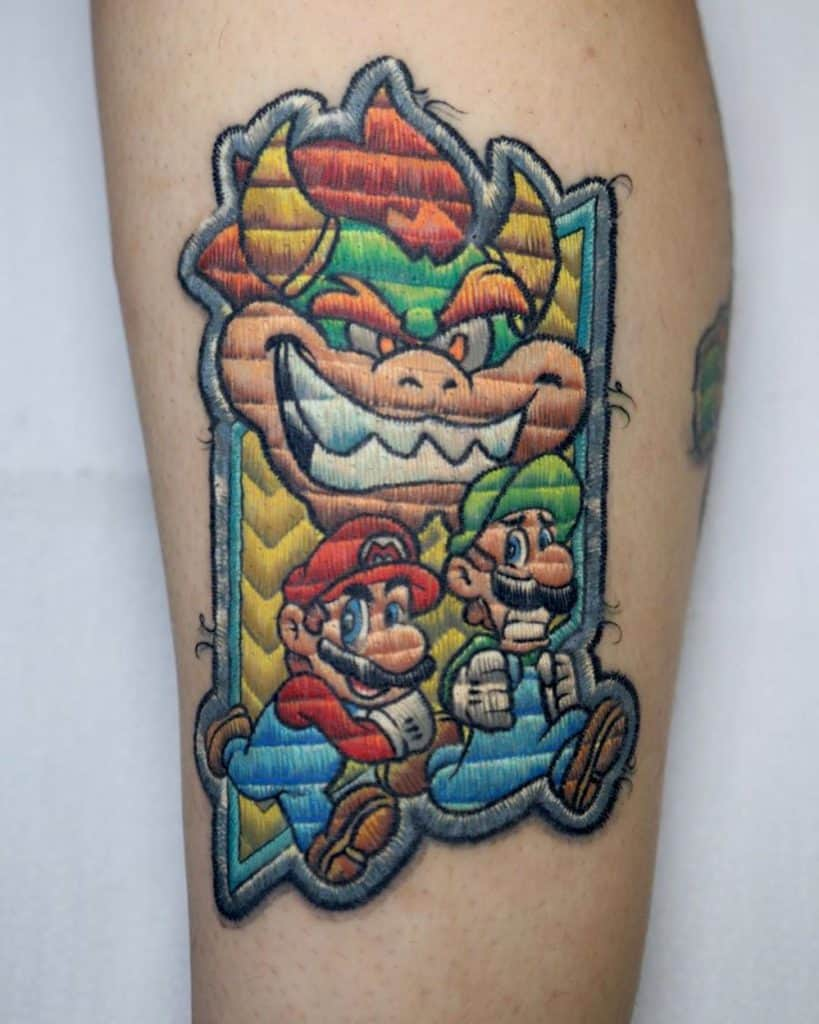 embroidery tattoo