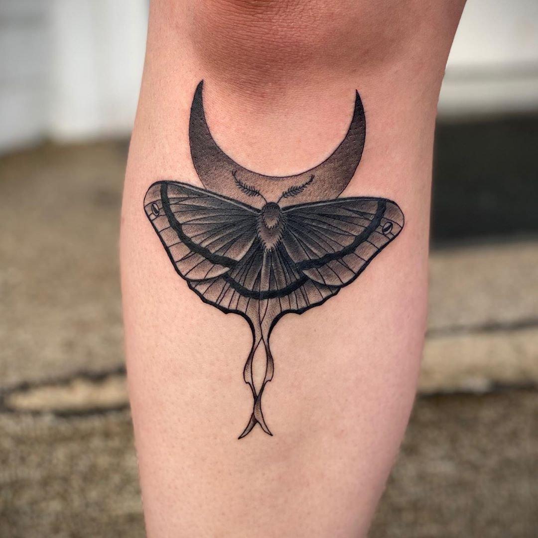luna moth tattoo