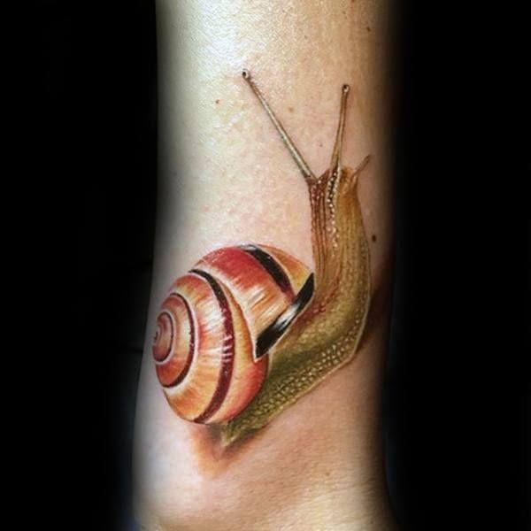 3D Snail Tattoo