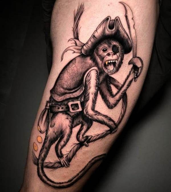 'A Pirate Monkey' Tattoo
