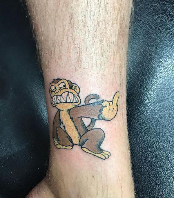 Angry Monkey Tattoo