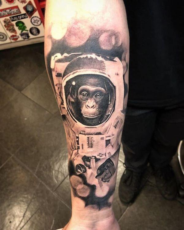 Astronaut Gorilla Tattoo