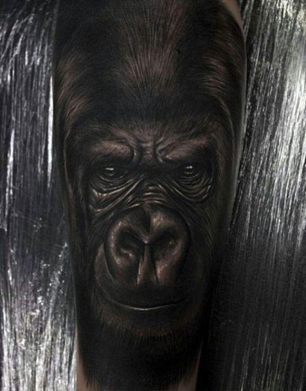 Black Gorilla Tattoo