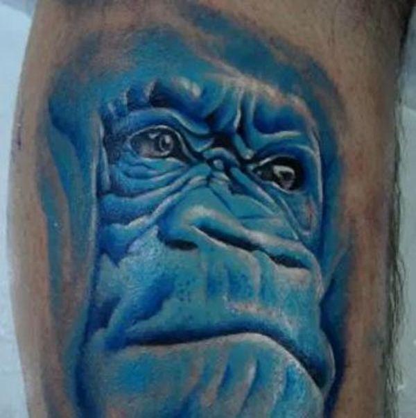 Blue Gorilla Tattoo