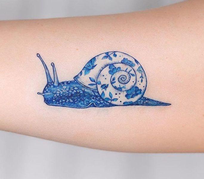 Blue Snail Tattoo
