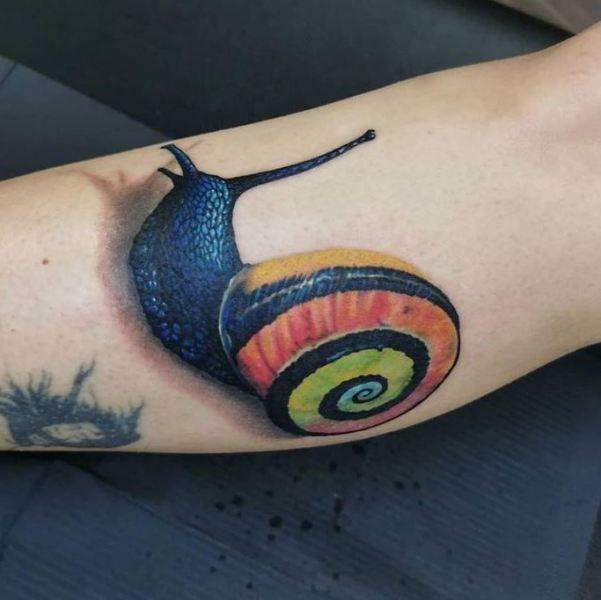 Cuban Land Snail Tattoo