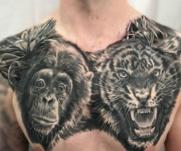 Gorilla-Tiger Tattoo