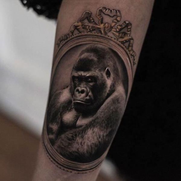 'Gorilla with Frame' Tattoo