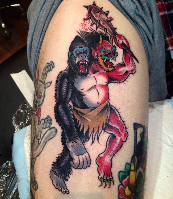 'Half Gorilla and Half Devil' Tattoo