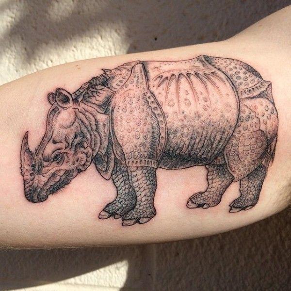 Illustrative Rhinoceros Tattoo