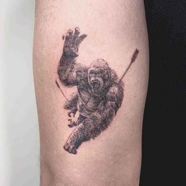 Injured Gorilla Tattoo
