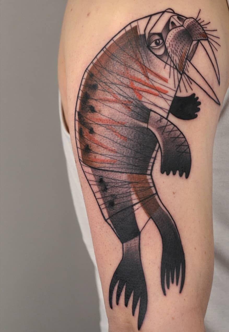 Injured Walrus Tattoo
