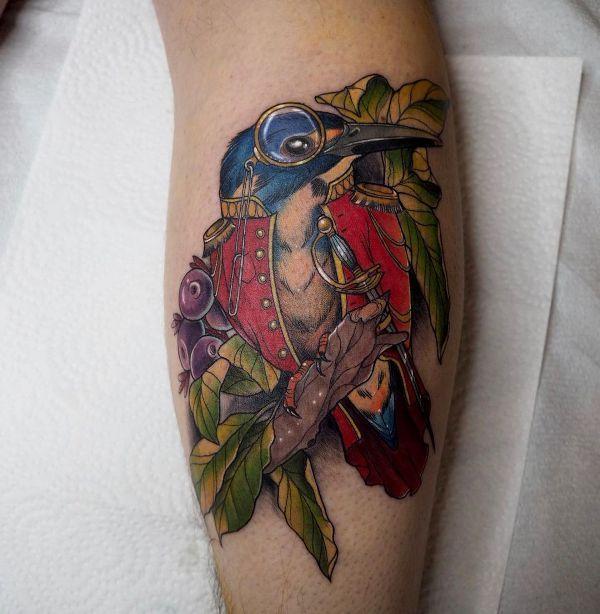 'Kingfisher in Napoleonic Uniform' Tattoo