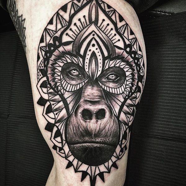 Mandala Gorilla Tattoo