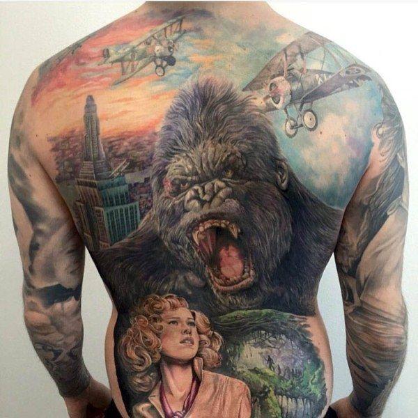 Movie-Character Gorilla Tattoo
